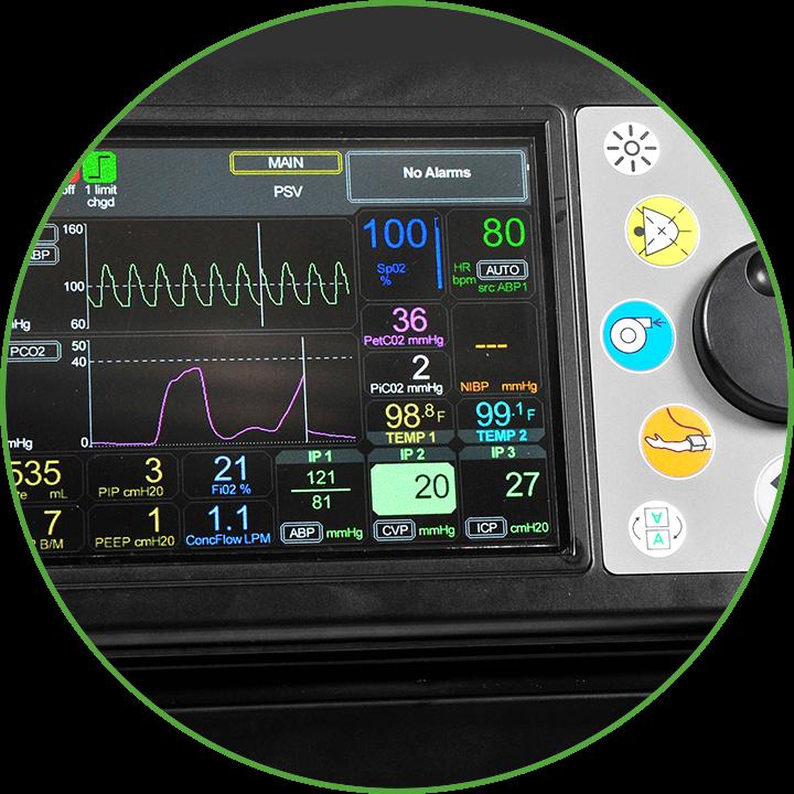 MOVES® SLC™ monitor close up