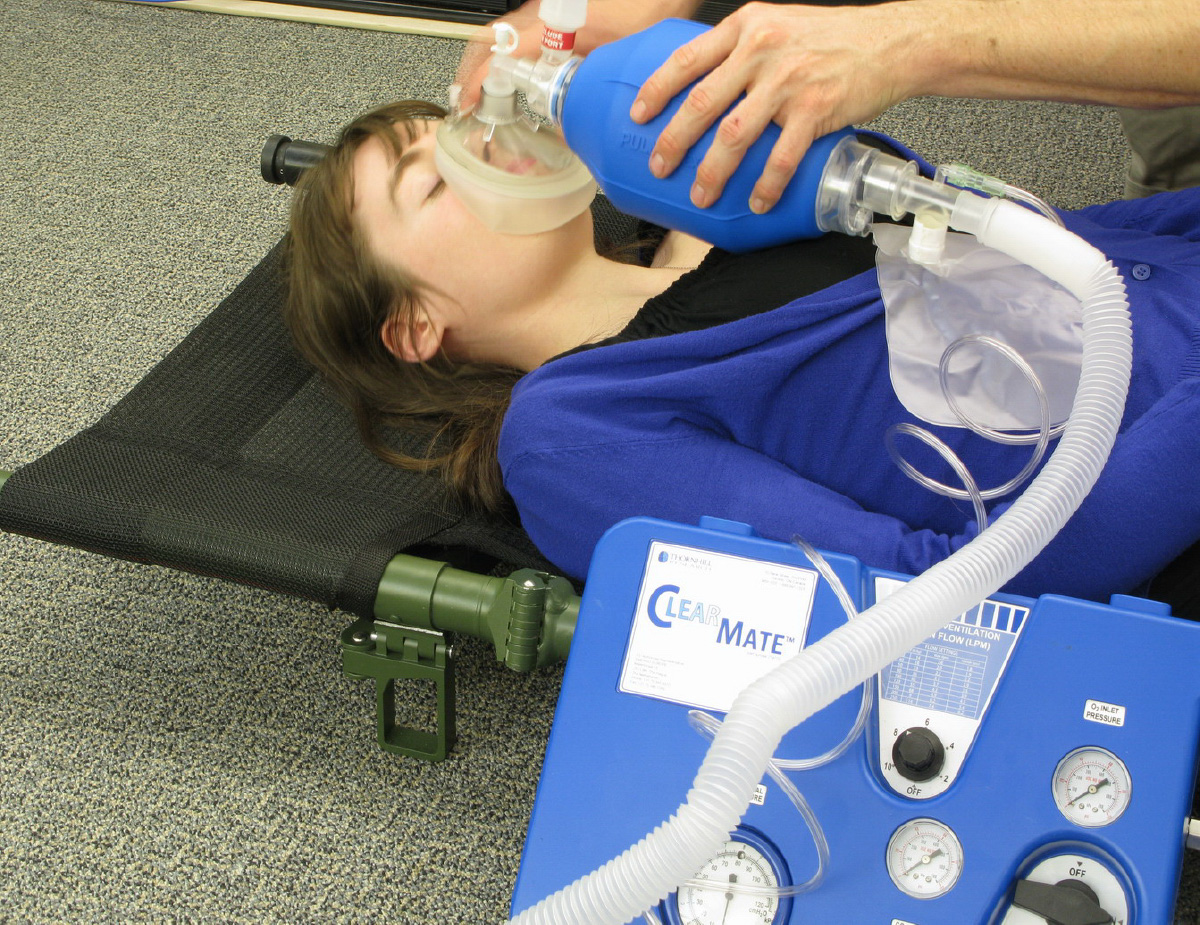 ClearMate™ application of device on patient