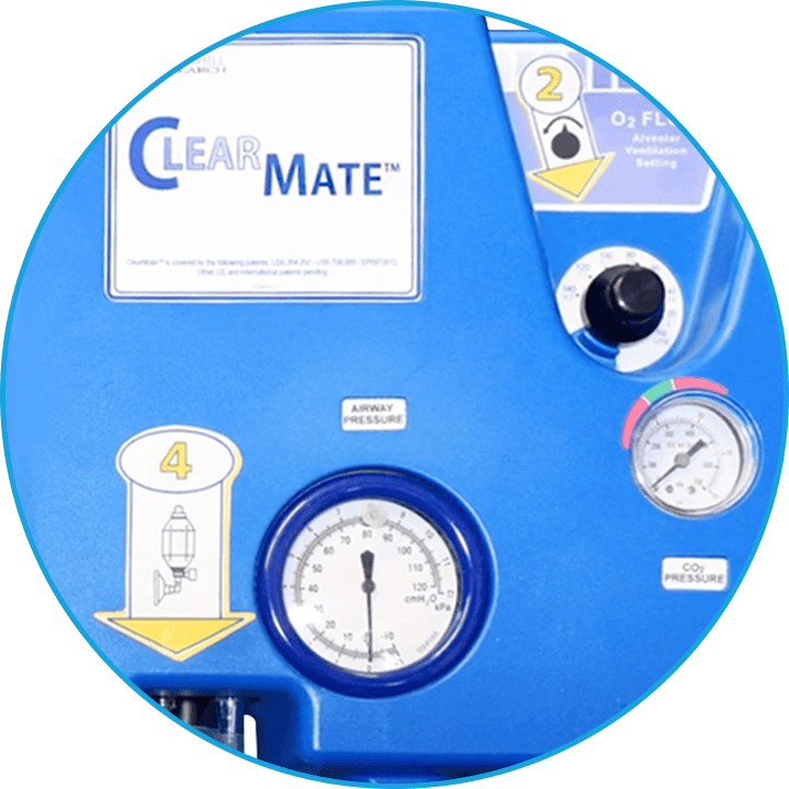 ClearMate™ closeup of equipment